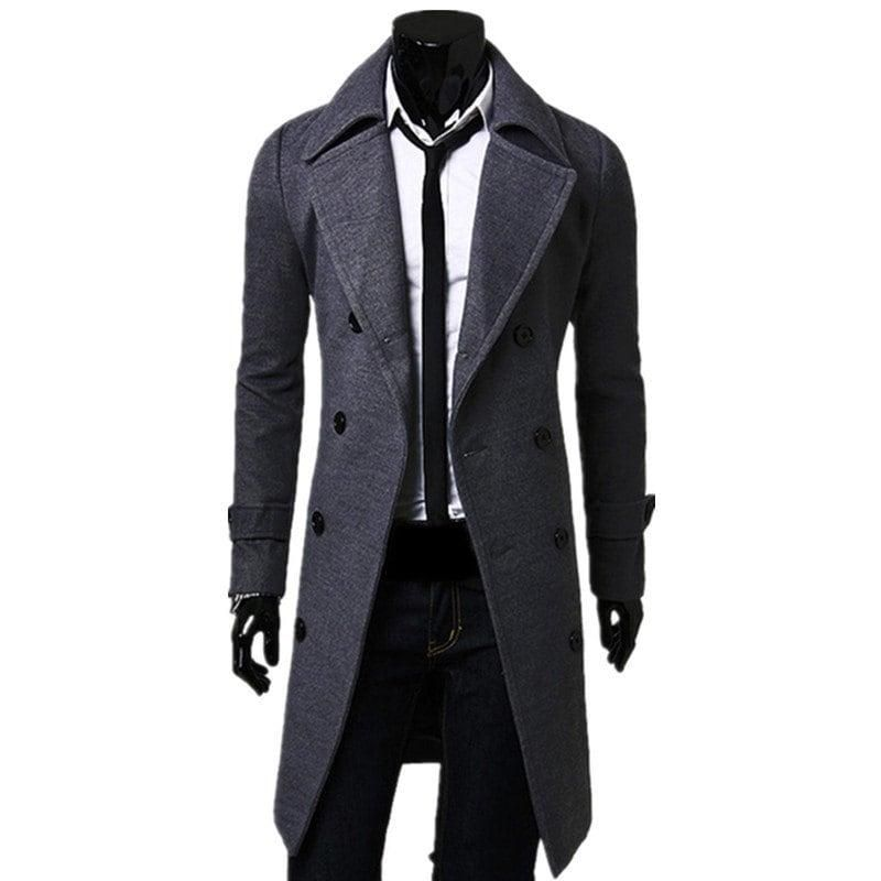 226137c60a21 Cheap Array Array 2012 New Men s Stylish Trench Coat Winter Jacket Double  Breasted Overcoat Gray   Grey Online Shopping