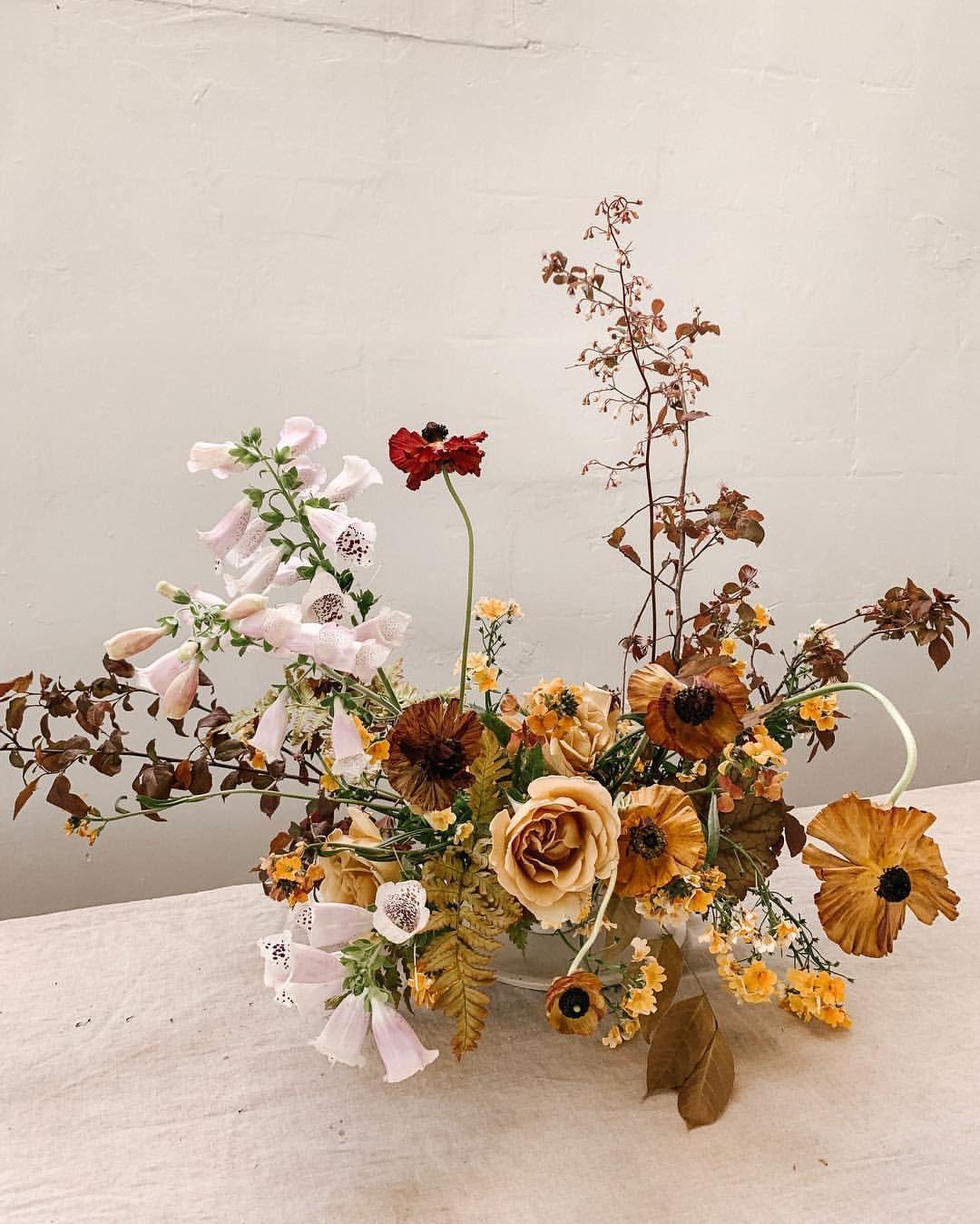 In My Next Online Course I M Diving Deep Into Centerpiece Designs From Complex Garden Arra Floral Centerpieces Modern Flower Arrangements Flower Arrangements