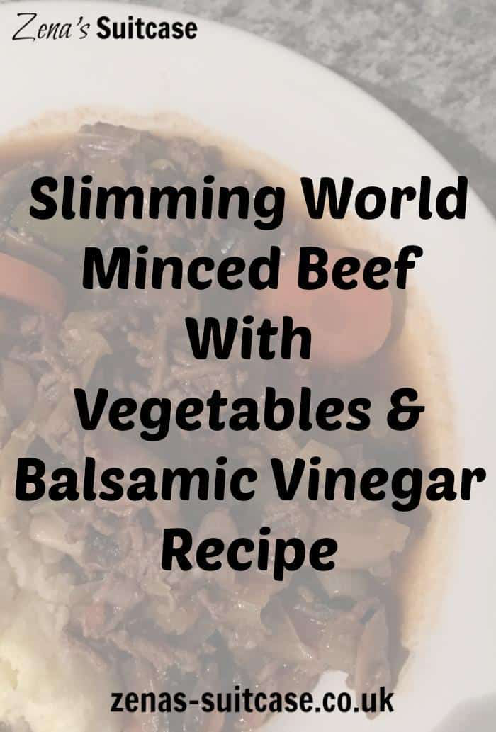 Slimming World Minced Beef With Vegetables & Balsamic Vinegar Recipe