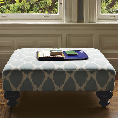 Living Room Printed Ottoman To Add Color And E