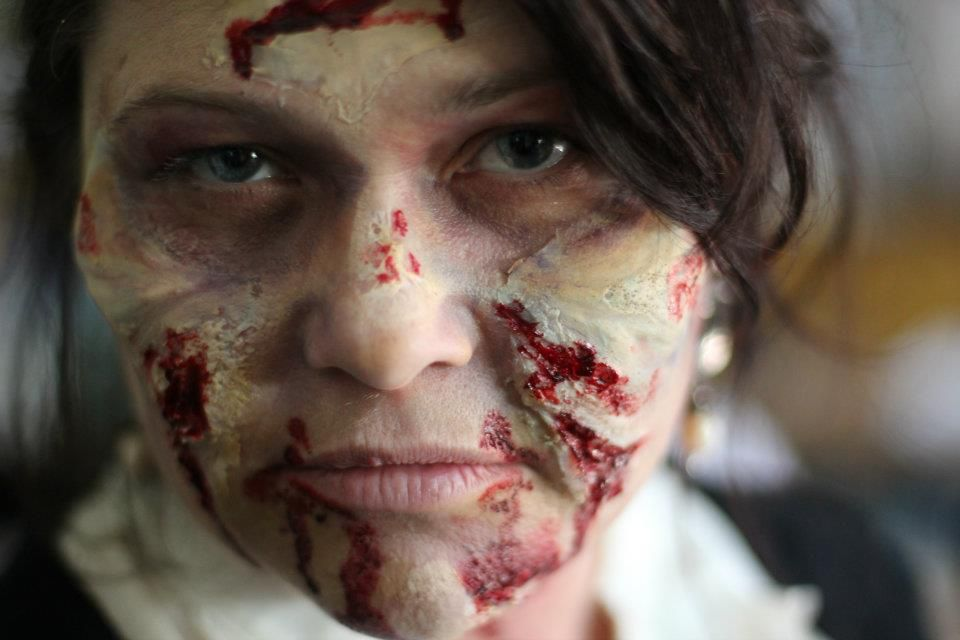 """Starting Arts just shot footage for an upcoming Advocacy commercial sharing the message, """"Arts Education: Brings Kids Back to Life."""" Theatre Artists Adrienne Marquette got zombiefied to play the teacher in the commercial."""