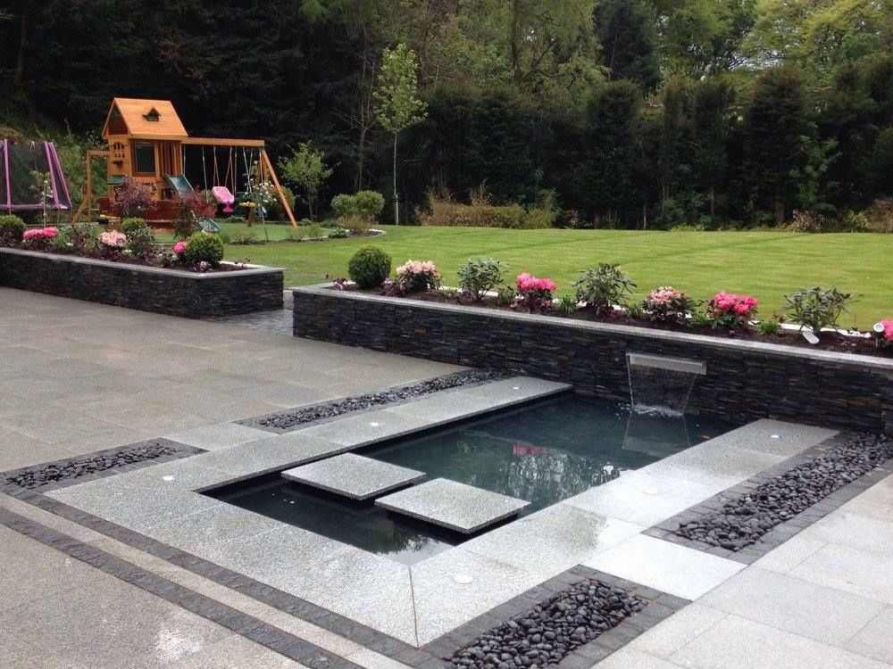 Contemporary garden in newton mearns glasgow with silver for Garden design ideas glasgow