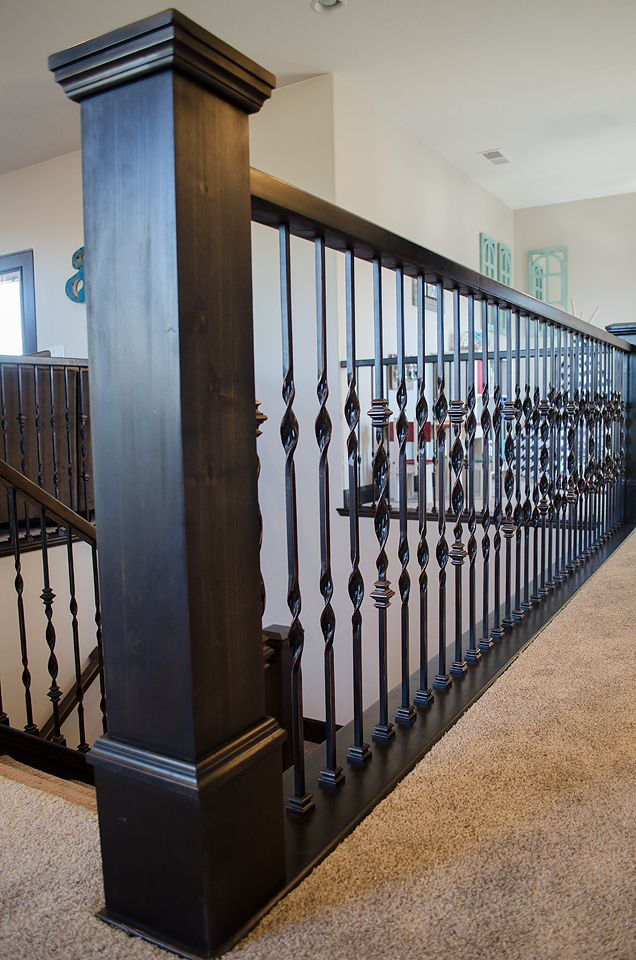 The Simple Addition Of Wood Handrails To An Iron Barade Can Dramatically Improve On Existing Design With Little Cost And Installation