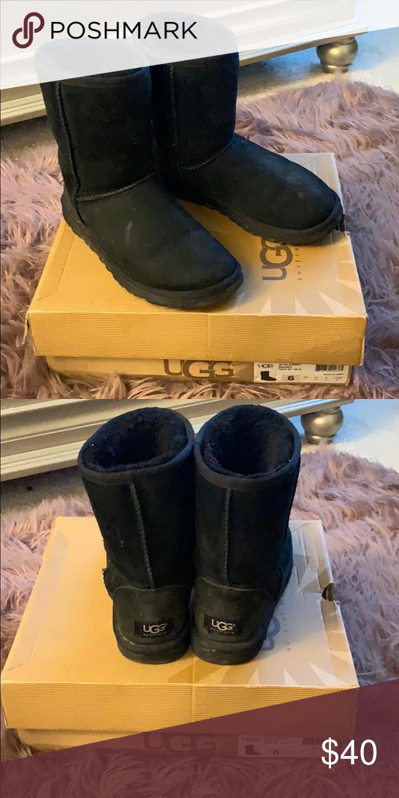 1bd07b92ddd Black Uggs Women Classic Short Black Uggs UGG Shoes Winter & Rain ...