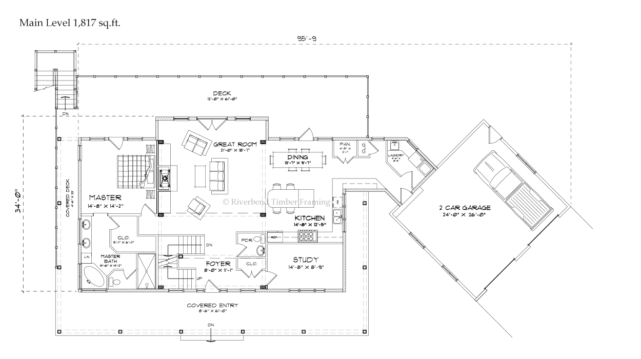 The Fairfield, a three-bedroom timber home plan from Riverbend ...