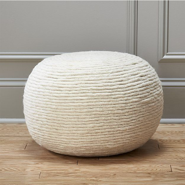Surprising Wool Wrap Natural Pouf In 2019 Baby Pouf Ottoman Forskolin Free Trial Chair Design Images Forskolin Free Trialorg