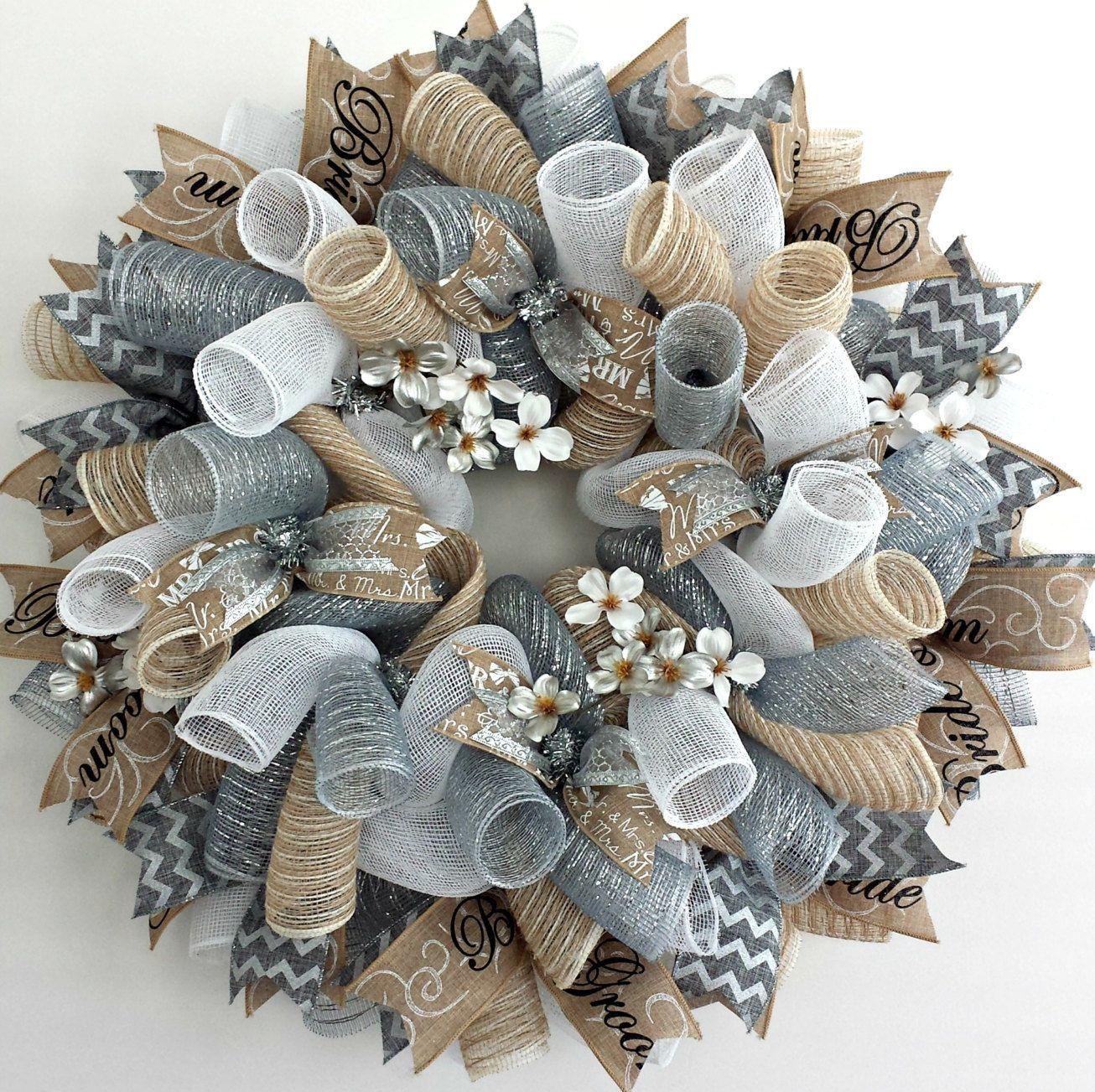 Wedding Wreath by AnyOccasionWillDo on Etsy