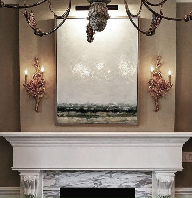 fireplace mantel lighting ideas. elegant french style carved wood sconces above a fireplace mantel decorating ideas lighting d