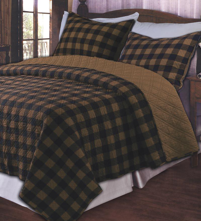 Classic Buffalo Plaid Cotton Reversible Quilt Set Plow