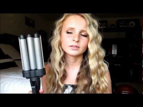 Revlon Ceramic 3 Barrel Jumbo Weaver Review And Demo Youtube Hair Crimper Curling Iron Hairstyles Crimped Hair