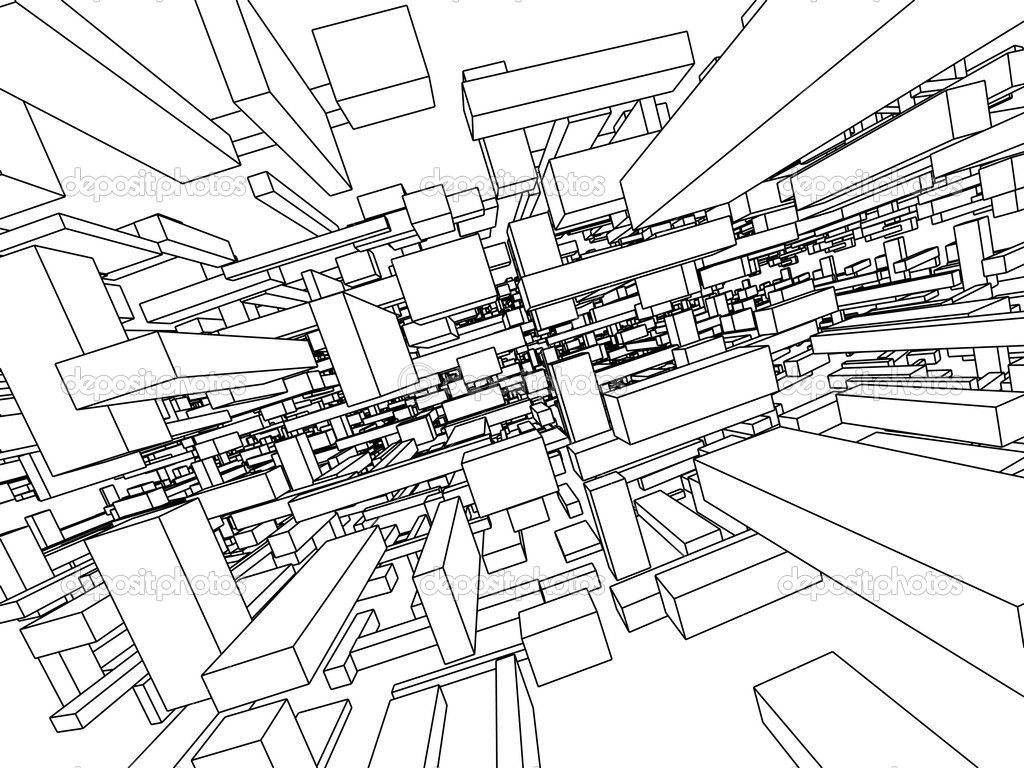 Architecture Drawing Wallpaper Background Wallpaper