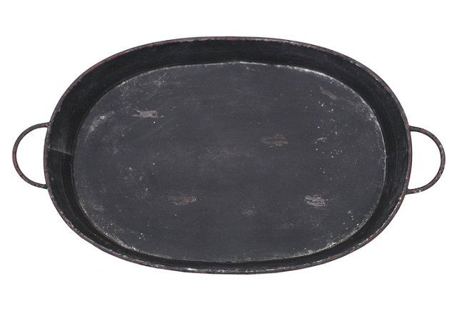 "34"" Distressed Tray, Black"
