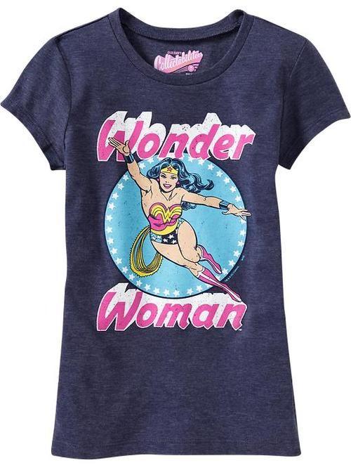 4d70999b New Girls' Superhero Shirts Available at Old Navy | Wonder Women ...