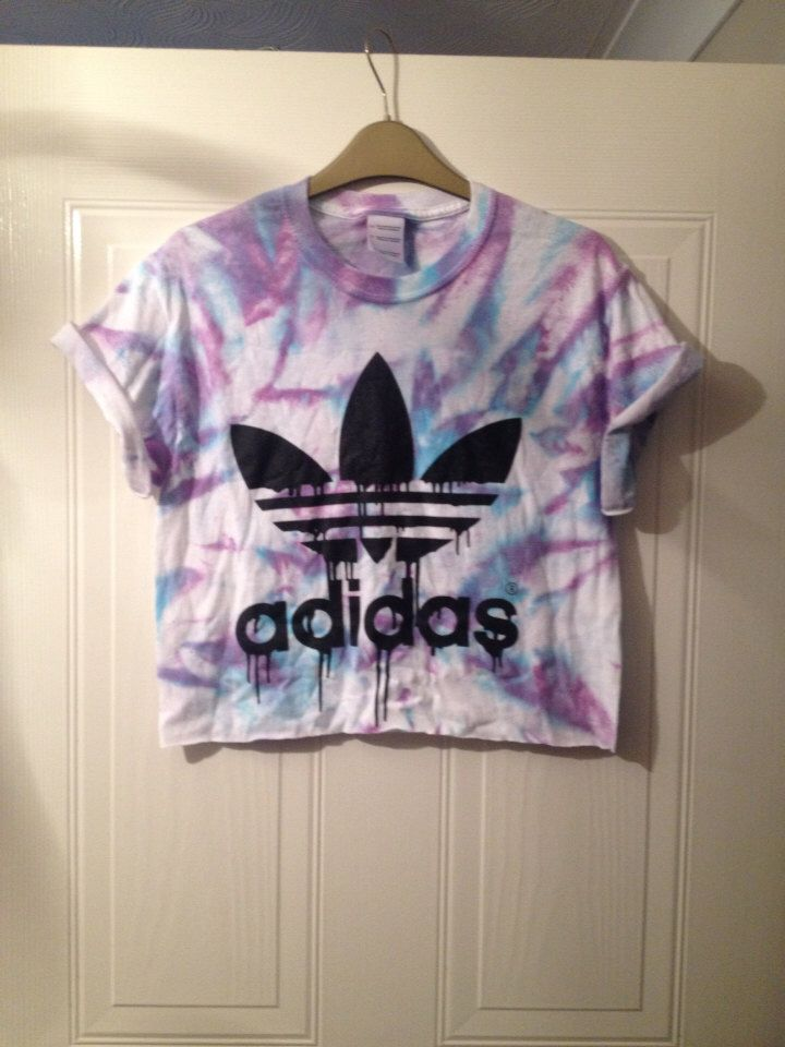 3cf2b23725d unisex customised adidas tie dye cropped t shirt festival swag by  mysticclothing on Etsy (null)