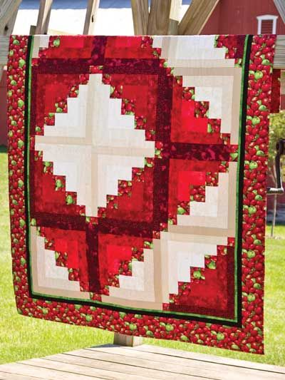 Cabin In The Orchard Free Quilt Pattern Download. Find This Pattern At Free  Quilting