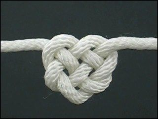 Heart knot....tutorial linked