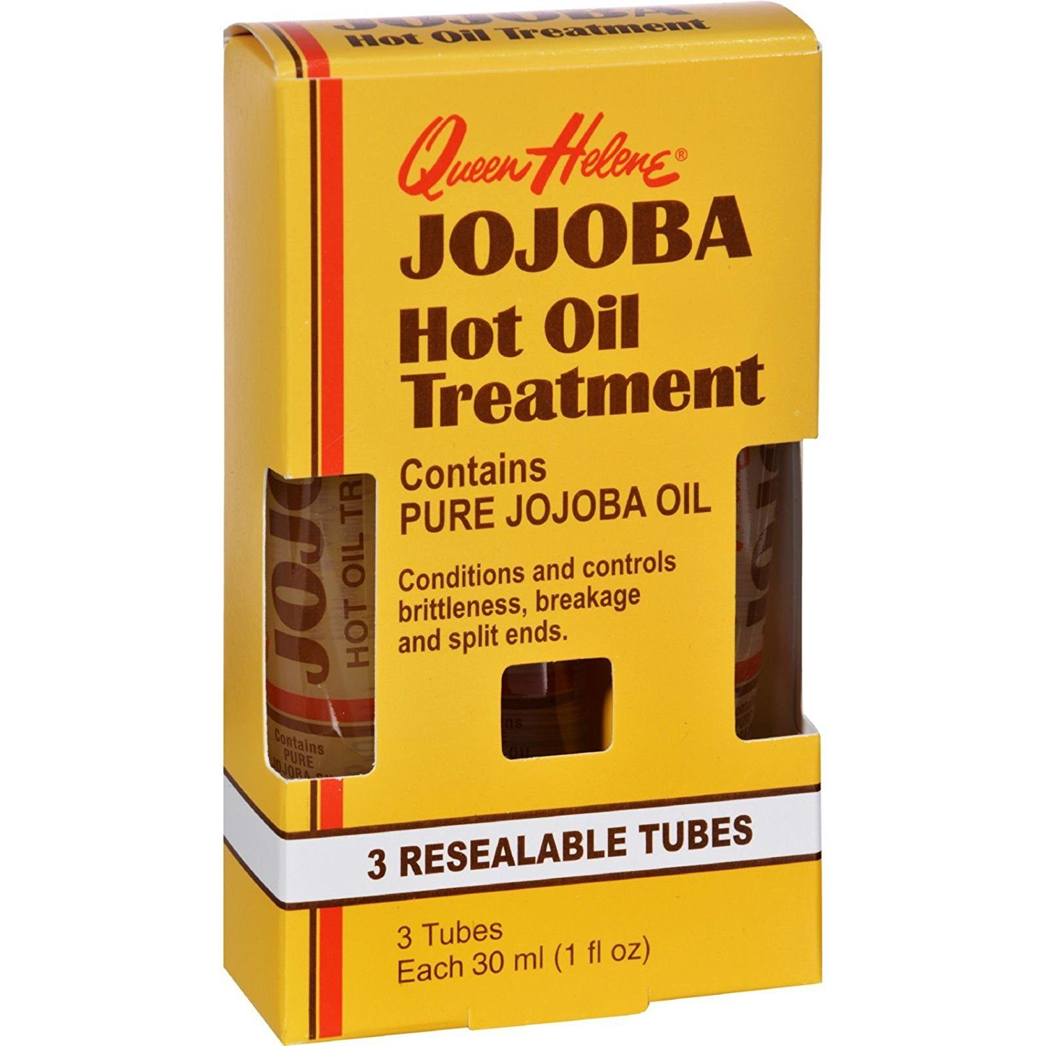Queen Helene Jojoba Hot Oil Treatment 1 Fl Oz Revitalize Damaged Hair And Re