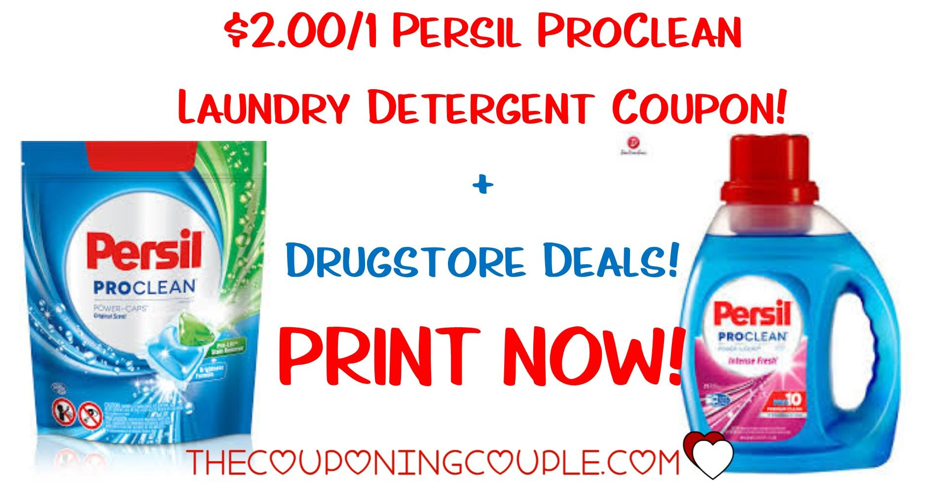 New 2 Persil Proclean Laundry Detergent Coupon Hot Deals At