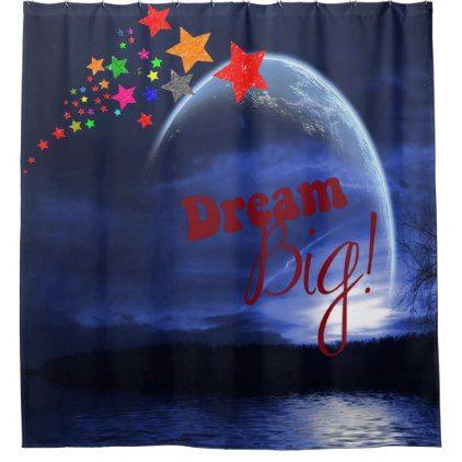 Dream Big Shower Curtain Zazzle Com Big Shower Dream Big Christmas Bulbs