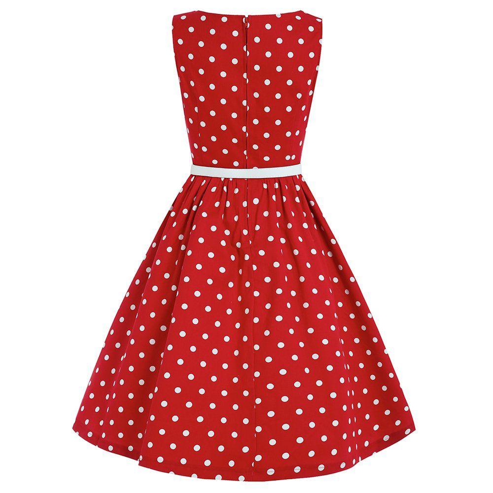 Audrey Red Polka Dot Dress | Vintage Style Dresses - Lindy Bop | My ...