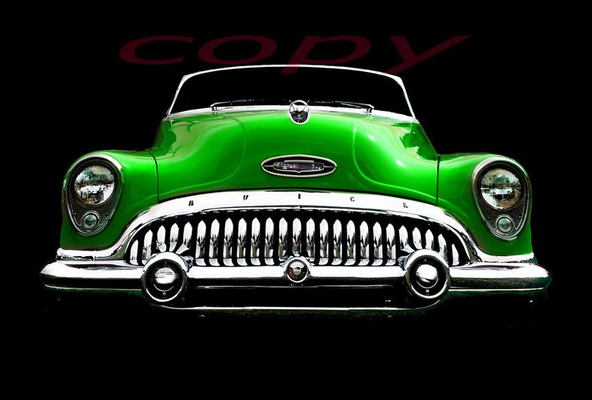 1953 ◘ Buick Roadmaster The only thing I love about this pic is the gorgeous paint job. Love the color. Looks like a candy apple green. lol :)