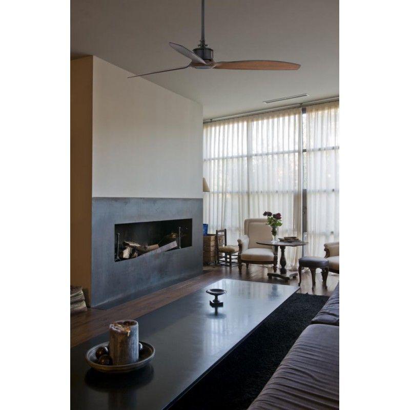 Ventilateur De Plafond Minimaliste Just Fan 33395 Faro O128 Noir Avec Telecommande Ventilateur Plafond Ventilateur Design Et Plafond Moderne