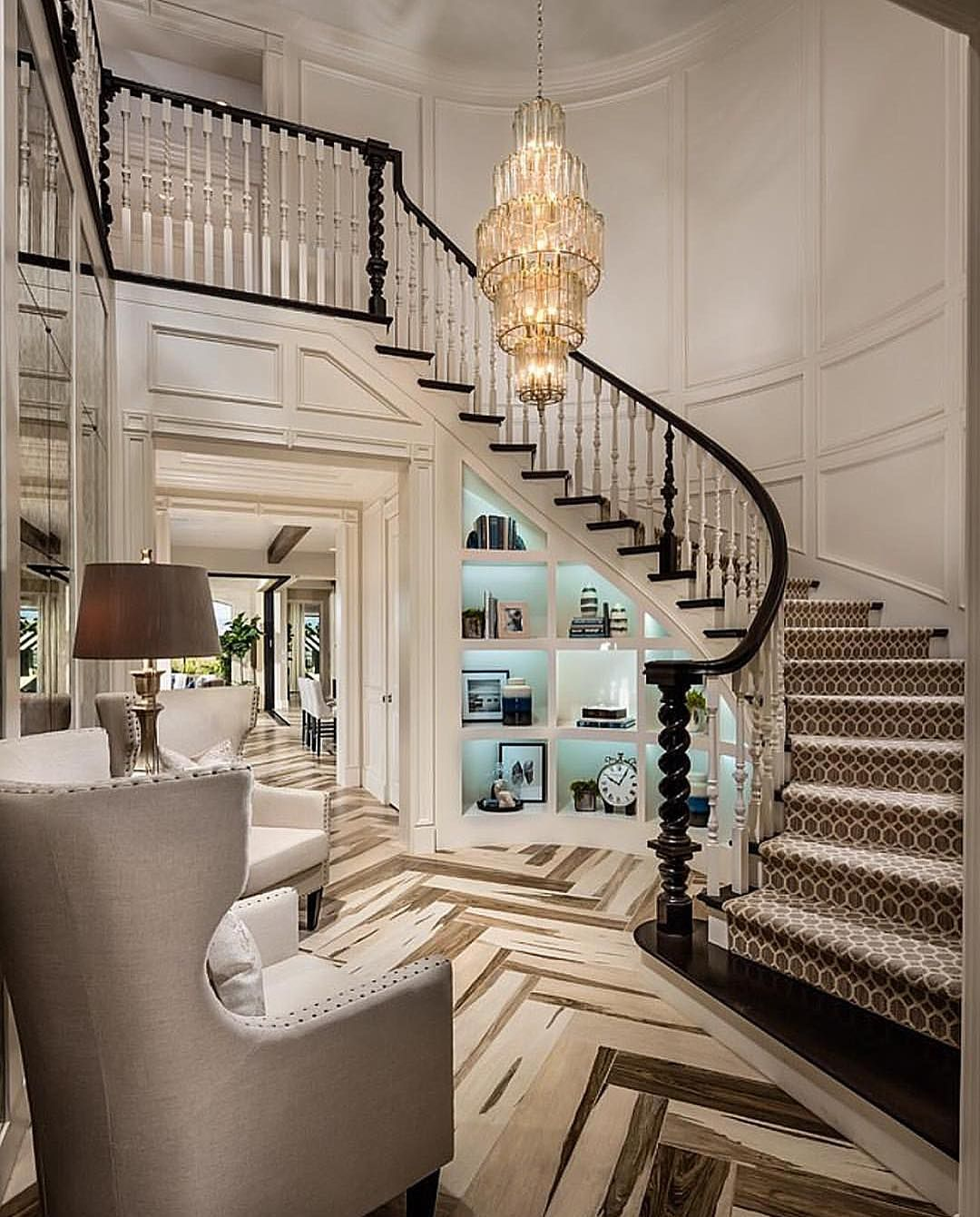Home interior design staircase not your average foyer  by designlinesd  luxury  pinterest