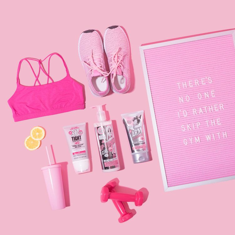 Health aesthetic fitness pink