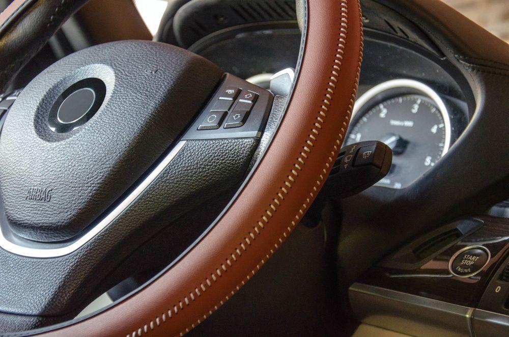 Italian Hand Made 'ARTISAN' Car Steering Wheel Cover in