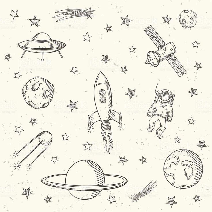 Hand #drawn #set #of #astronomy #doodles. #royalty-free #hand #drawn #set #of #astronomy #doodles #stock #vector #art #& #more #images #of #arts #culture #and #entertainment