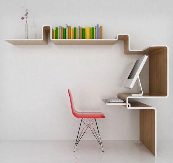 Modernos escritorios minimalistas para espacios reducidos - diseo de escritorios