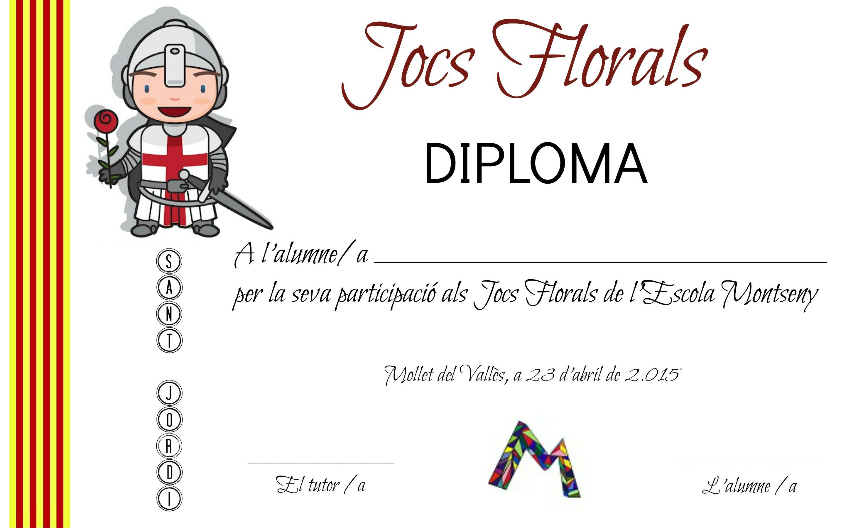 DIPLOMA JOCS FLORALS