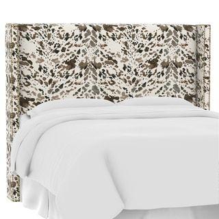 skyline furniture custom prints wingback headboard tete de lit de la reine dosseret ailier offensif
