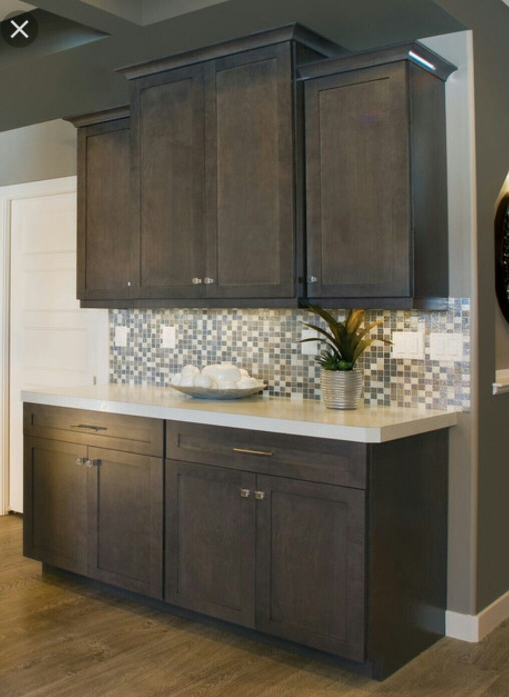 gray stained kitchen cabinet on a budget in kitchen ...