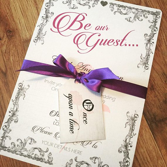 Beauty and the beast invite Once apon a time invitation Be our