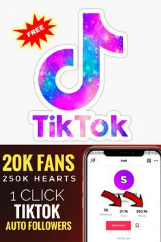 Get Free Tiktok Fans Free Tiktok Likes Free Tiktok Followers No Human Verification In 2021 Free Followers Get Likes On Instagram Auto Follower