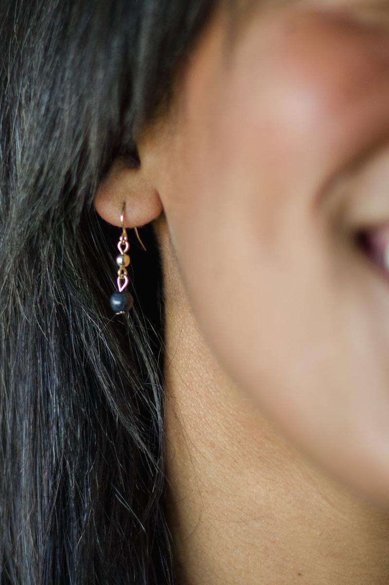 Black Magic Necklace + Earrings Set. pepperandgrey.com #pepperandgrey