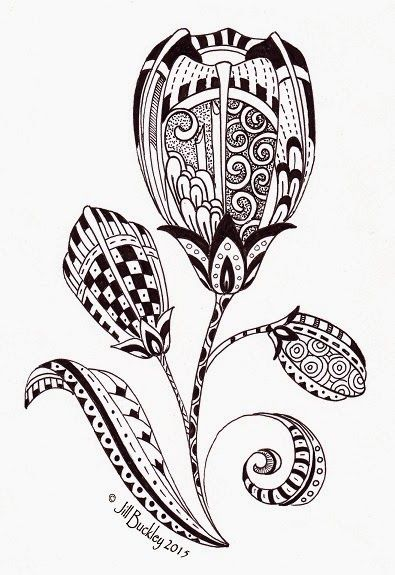 Searching for Spring | Zentangle drawings, Tulip tattoo