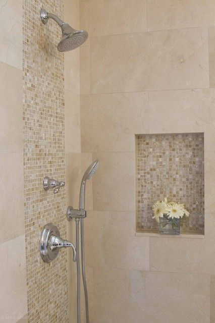 Love The Highlight Tiles But Not Practical To Add So Many Grout Lines In The Shower Wet Area Bathroom Shower Tile Shower Tile Shower Remodel