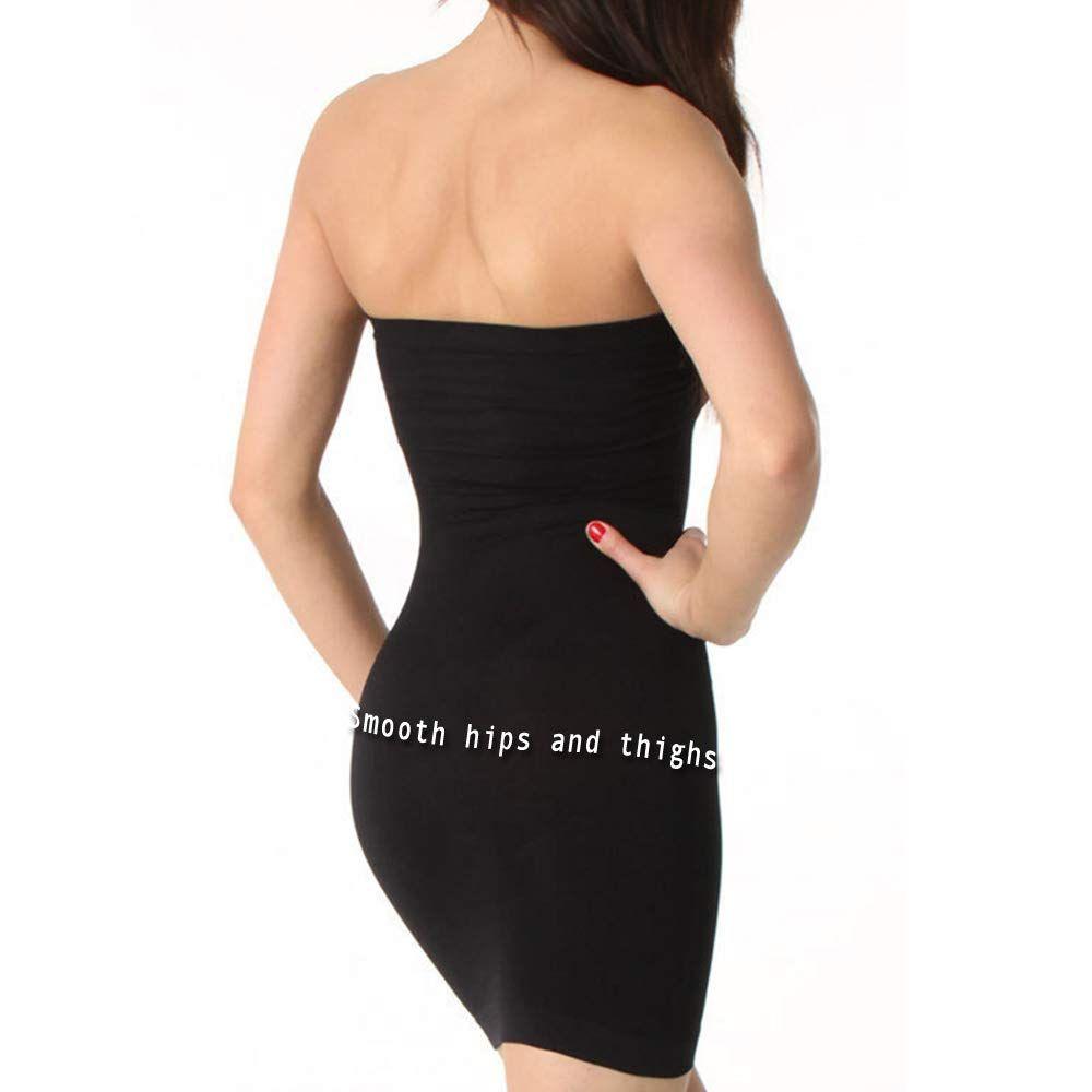 Aha Moment by N-Fini Womens Lycra Strapless Slip Shaperwear Underwire Soft Bra