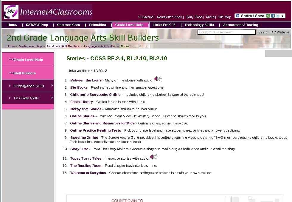 Stories Second 2nd Grade Skill Builders Language Arts Read Long