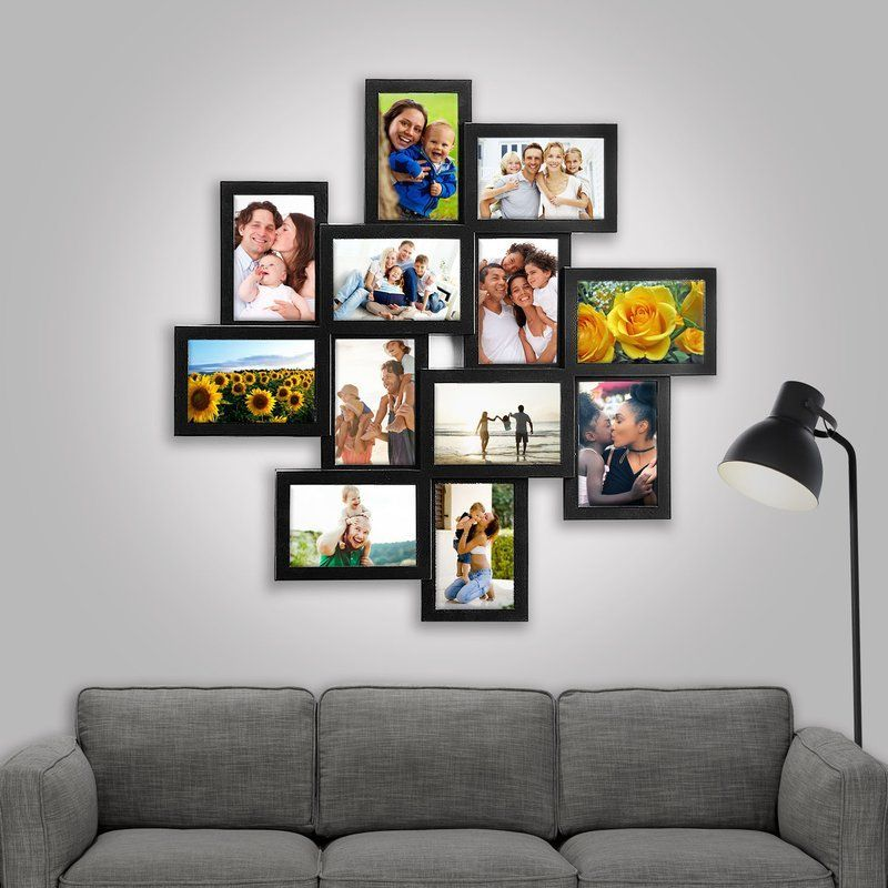 Eileen 12 Piece Storm Eye Selfie Gallery Collage Picture Frame Set Photo Wall Decor Frame Wall Collage Picture Frame Wall