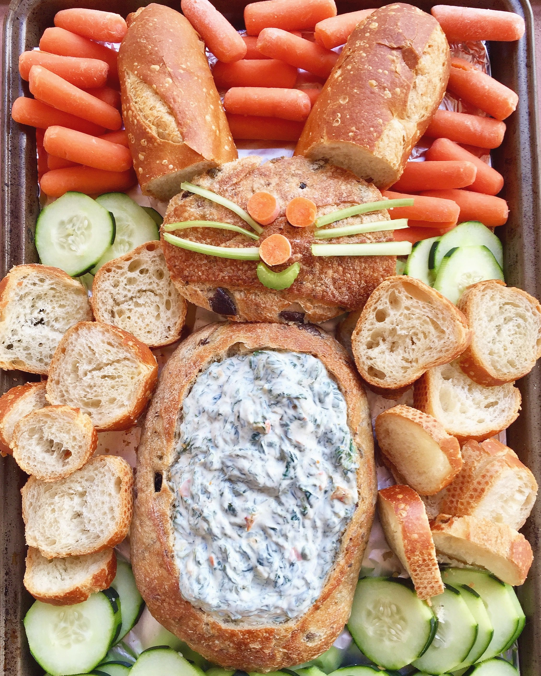 Bunny Spinach Dip// Kathryn's Kitchen