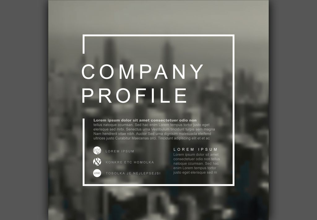 Square Company Profile Cover Layout 1 Buy This Stock Template And Explore Similar Templates At Adobe Sto Company Profile Square Company Company Profile Design