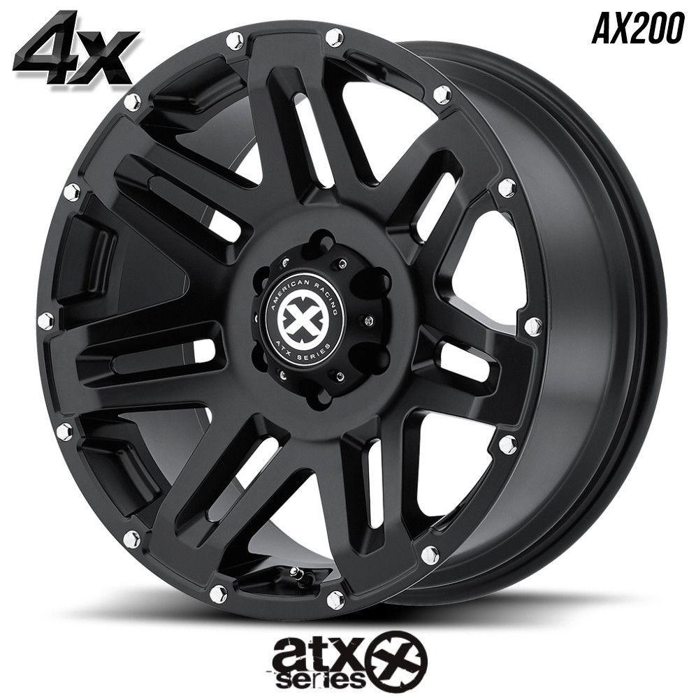 """4 ATX AX200 20""""x9"""" 8x180 Black OFST:0mm 20 Inch Rims 20X9"""