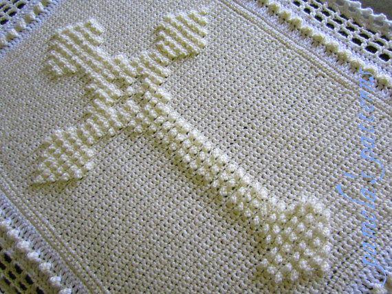 Crochet Celtic Cross PDF Pattern, Christening Blanket Cross Afghan ...