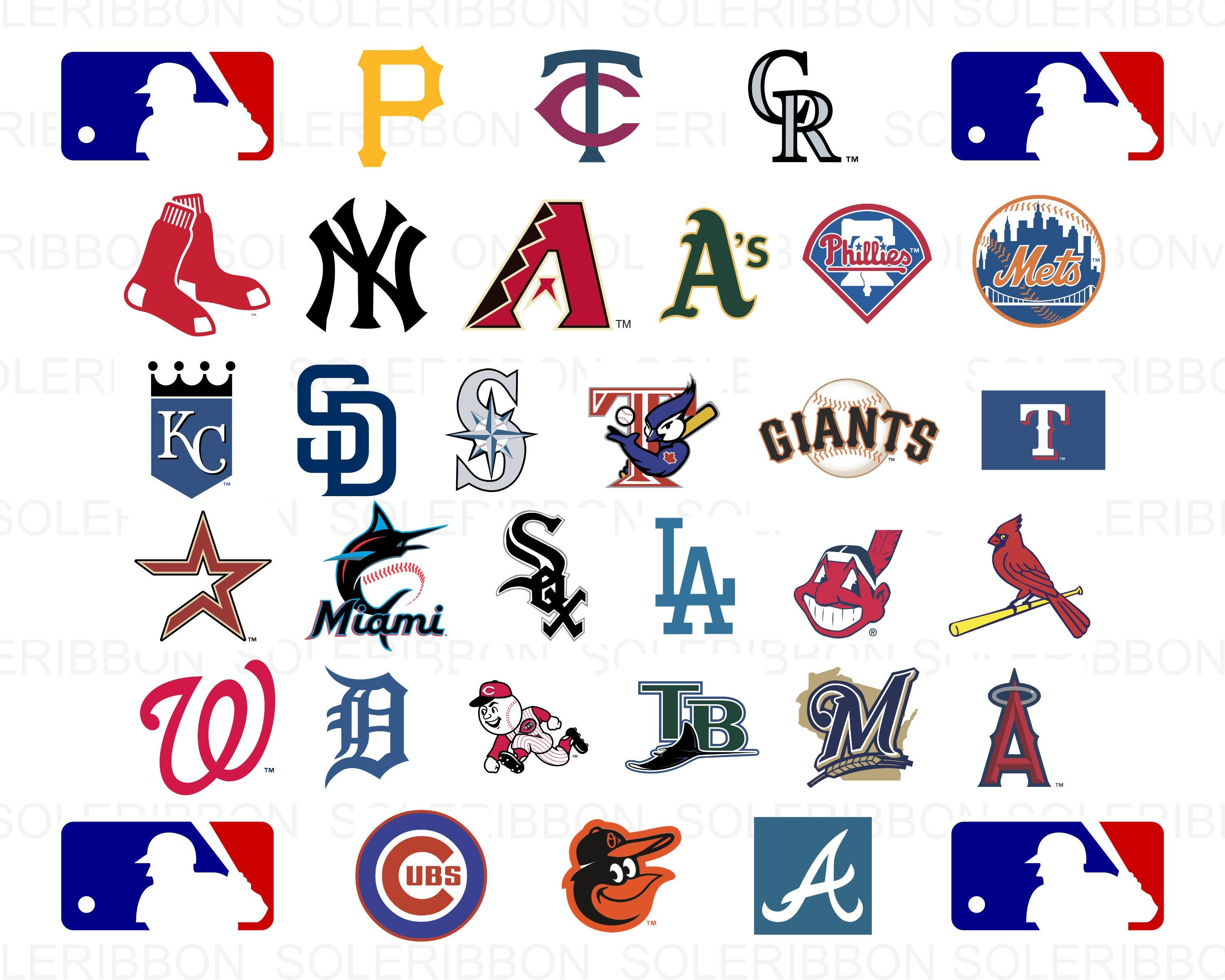 e212425a05443 MLB Logos Bundle | MLB Teams svg, MLB Team Logos Vector, Sport Svg, cut  files Baseball cricut, clipart bundle, files for cricut, mlb clipart