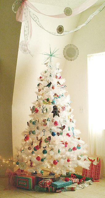 White Christmas Tree Holidays Pinterest Christmas tree