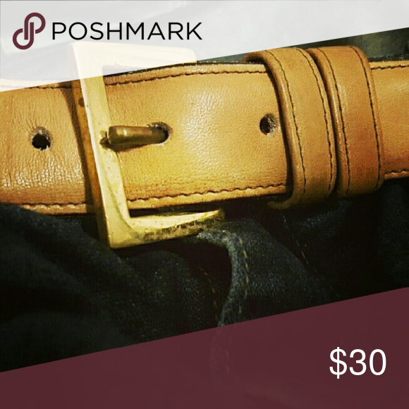 """Coach Mens Belt 36"""" """"This Is A COACH Belt It Was Made In New York City out or real glove tanned Cowhide snd solid brass""""  Size 36""""/90 # 7603   Distressed leather strap has normal leather wear.  Is an irregular... nothing wrong with it with years of life in it. Coach Accessories Belts"""
