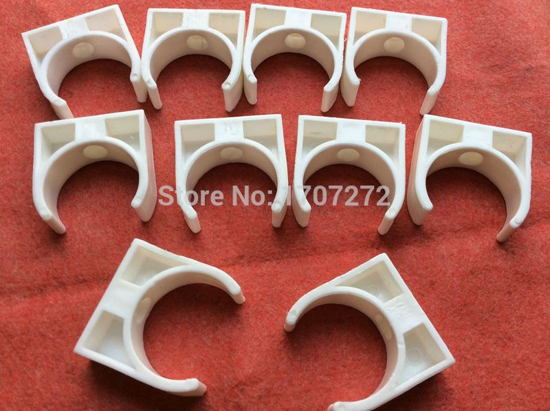 free shipping 50mm Plastic PPR Single U Clamp Holder Hot Cold Water